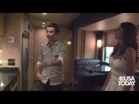 Kevin and Danielle Jonas on tour