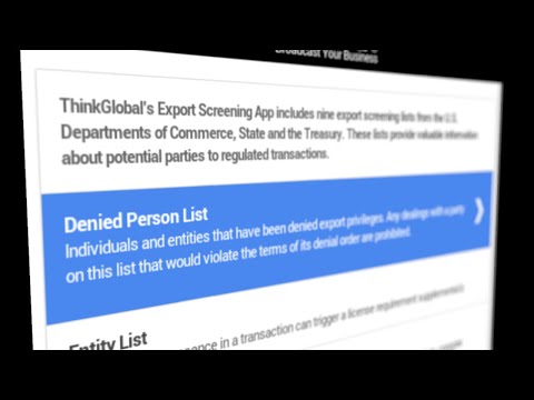Learn About the Export Screening App: The Denied Persons List