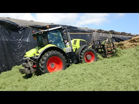 Pit work for the Silage - Nice, New, Claas.