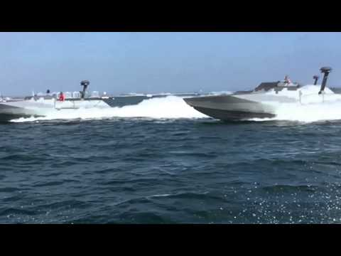 Navy Seals In Speed Boats Tear Up The Ocean!!!