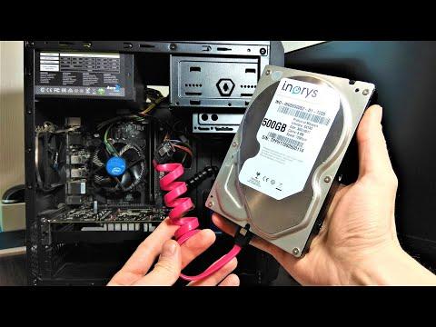 Как подключить второй жесткий диск HDD SSD к компьютеру