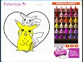 Free Kids Coloring Games Online - Pokemon Coloring Pages Games