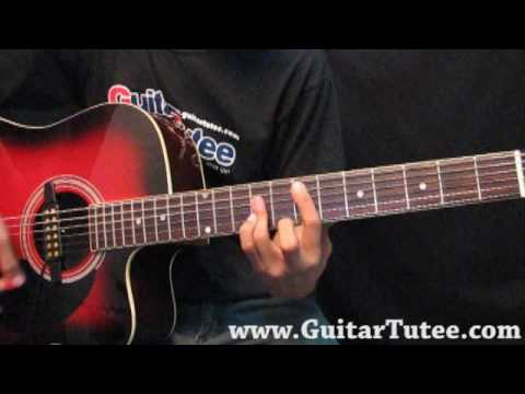 Justin Bieber - One Time, by www.GuitarTutee