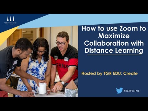How to use ZOOM to maximize collaboration with distance learning