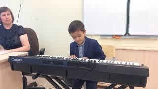 Играем на синтезаторе. Открытое урок в 1 классе музыкальной школы.
