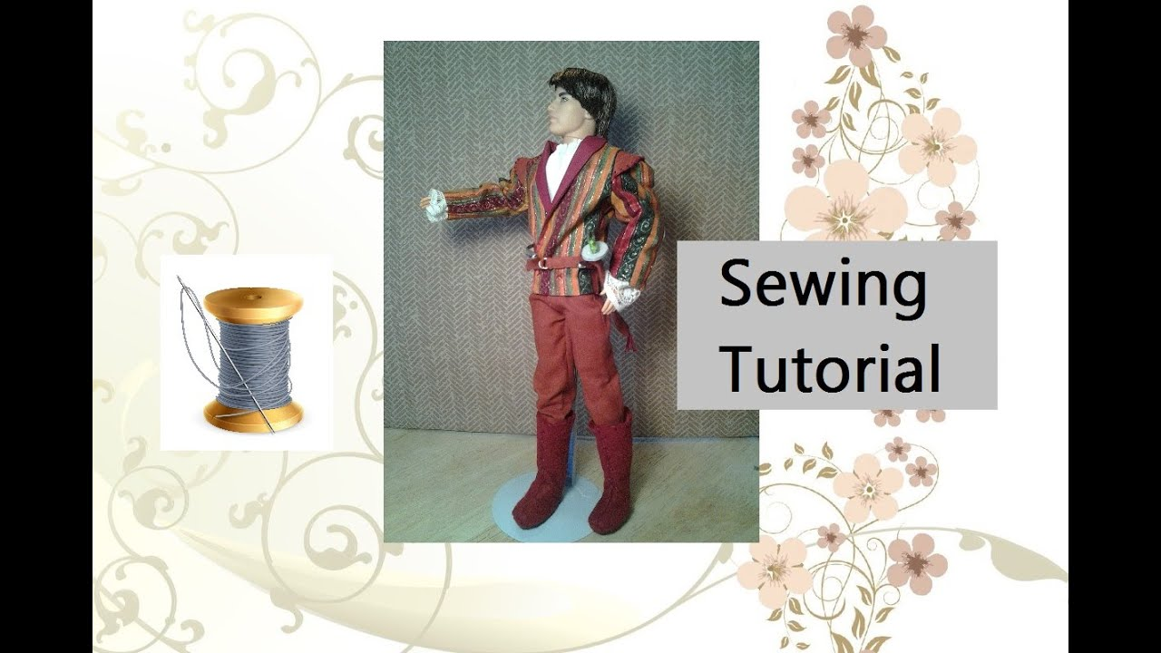 Free Ken Clothes Sewing Patterns and Tutorial - YouTube