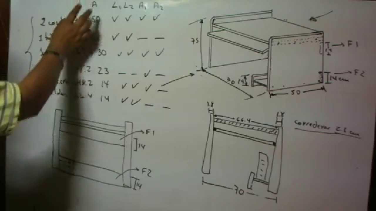 c mo hacer un mueble para computadora de melamina parte 1