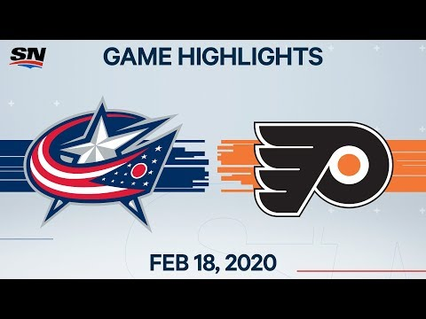 NHL Highlights | Blue Jackets vs Flyers – Feb. 18, 2020