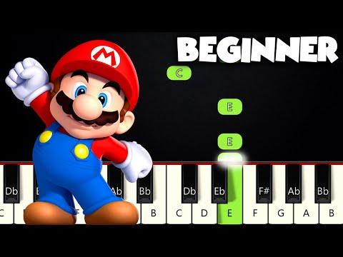 Super Mario Theme | BEGINNER PIANO TUTORIAL + SHEET MUSIC by Betacustic
