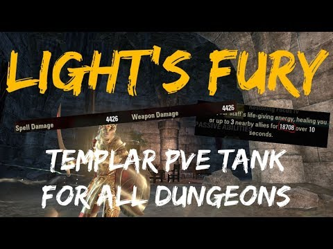 Light's Fury - PvE Templar Tank Build (For All Dungeons) | ESO Scalebreaker