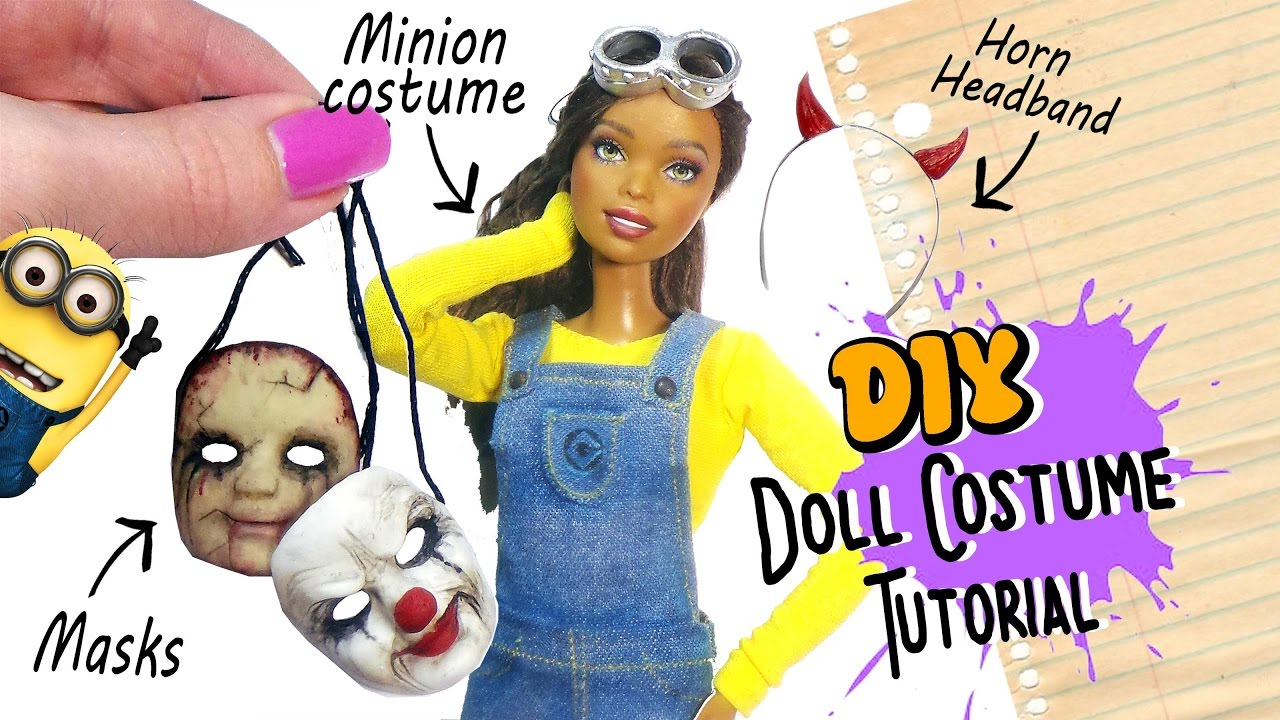 Doll halloween costume tutorial diy masks minion headband doll halloween costume tutorial diy masks minion headband youtube solutioingenieria Image collections