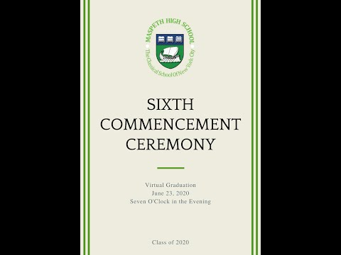 Maspeth High School   Sixth Commencement Ceremony   Class of 2020