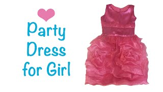 ♥ Party Dress for Girl with fabric flowers ♥