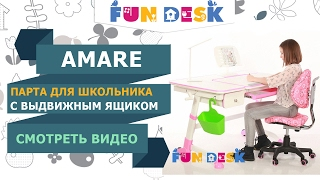 видео Парта FunDesk Volare II Grey с полкой