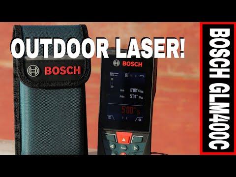 BOSCH 400' OUTDOOR LASER DISTANCE MEASURE REVEIW- GLM400C