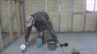 видео Обеспыливание бетона и полов. Пропитка полов и бетона, пропитка бетонных полов