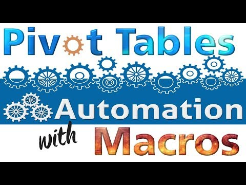 Multiple Pivot Tables and Pivot Chart with very Simple Macro