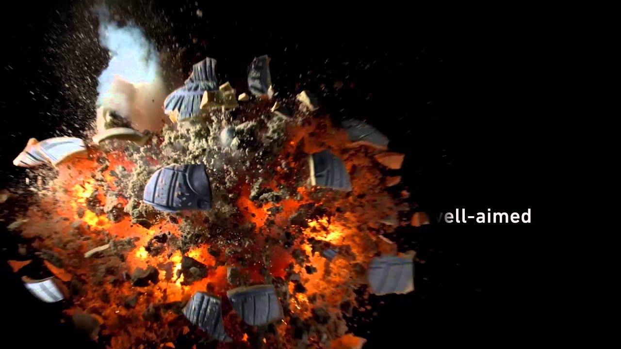 Exploding Slow Motion Death Star Cake - YouTube