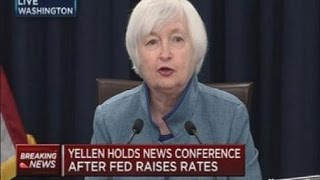 Conferencia Yellen aumento .25% Fed Funds Dic 14 2016