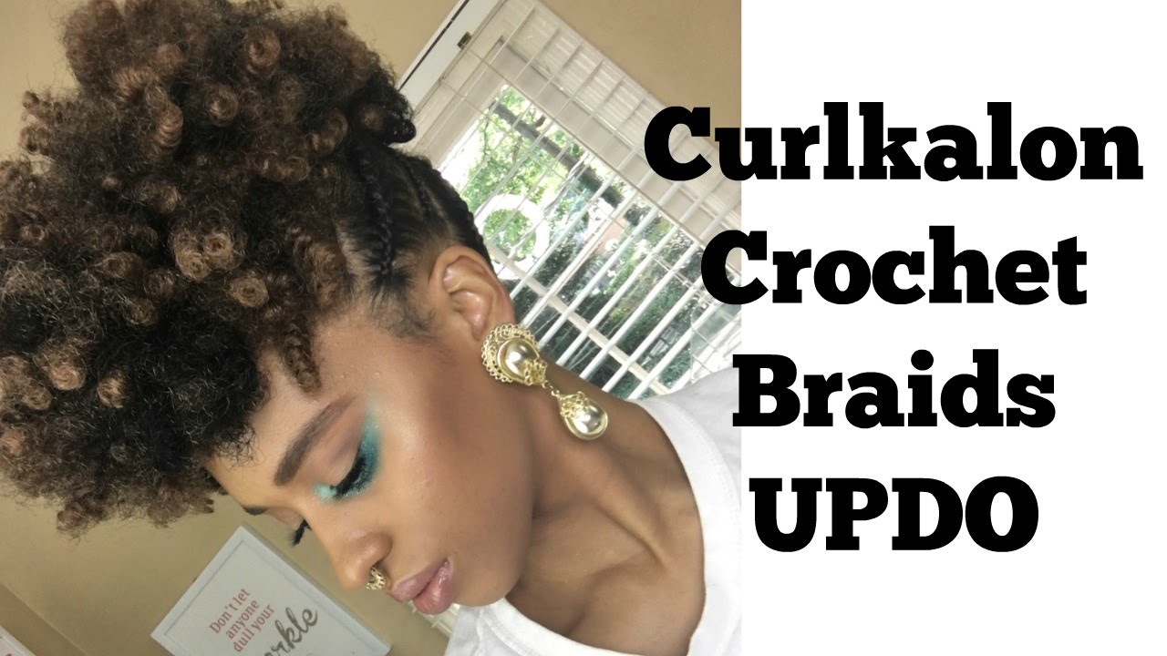 Curlkalon Crochet Braids Updo I Am Lilredz Youtube