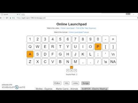 SUBFER - Electro Mashup online launchpad