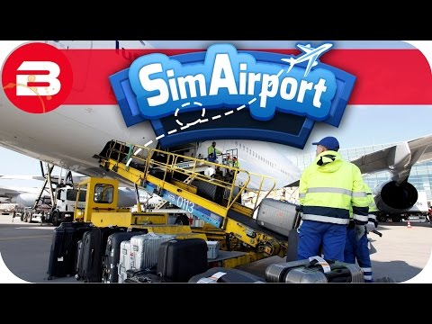 SIM AIRPORT Gameplay - BAGGAGE HANDLING SYSTEM Lets Play SIMAIRPORT Alpha #2