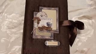 Скрапбукинг  Мужской фотоальбом на юбилей