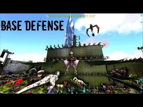 SPIRAL BASE DEFENSE! - Official PVP (E29) - ARK Survival Gameplay