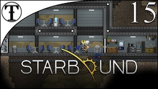 Moon Colony Building Part 1: Security Kitchen and Mess Hall:: Starbound Episode 15