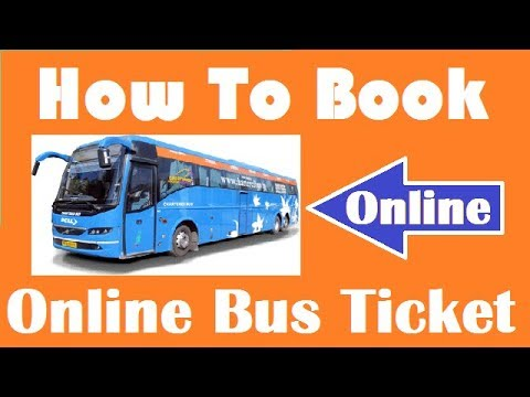 How To Book Bus Tickets Online?  (Bus Ticket Online Kaise Book Karte?)  Hindi Video