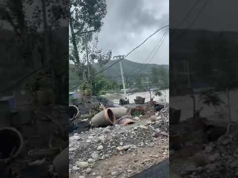 恐怖!焦作遭海啸般洪水袭击 村庄被淹 街道变河流(图/5视频)