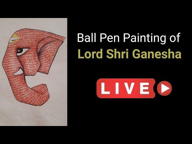 Lord Shri Ganesha   Ball Pen Painting by Vishal Garad