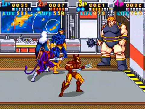 xmen arcade 4 player co op pt 1 youtube