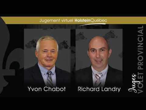 Résultats Senior du jugement virtuel Holstein Québec - volet provincial