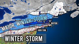 Major Winter Storm Finley Forecast