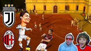 STADIO CHIUSO RONALDO GIOCA IN PIAZZA Juventus vs Milan Coppa Italia Volta Football Fifa 20
