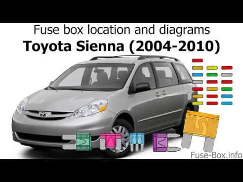 Fuse box location and diagrams Toyota Sienna (2004-2010) - YouTube