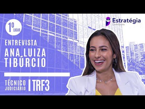 ANA LUIZA TIBÚRCIO | APROVADA | 1º LUGAR | TRF3 | TÉCNICO JUDICIÁRIO (SP)