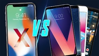 iPhone X VS Pixel 2 XL, Galaxy S8, and LG V30 Comparison!