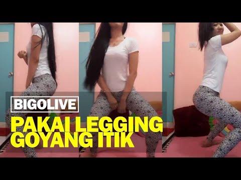 Cewek Pakai Legging Goyang Itik Bigo Live