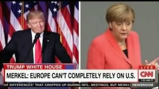 Merkel now the Leader of Free world with US and UK out repeats that its time for Europe to go it alo