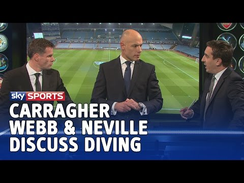 The Diving Debate - Jamie Carragher, Howard Webb & Gary Neville discuss the act of simulation