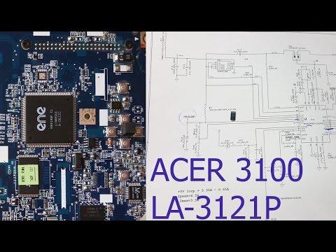 Ремонт материнской платы ноутбука ACER ASPIRE 3100 (LA-3121p). Короткое замыкание по +5VALWP.