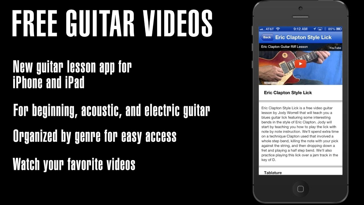 guitar lesson app for iphone ipad youtube. Black Bedroom Furniture Sets. Home Design Ideas
