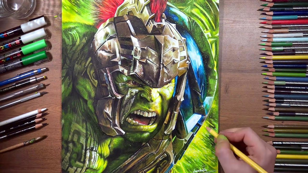 Drawing Hulk - Thor Ragnarok | Drawholic - YouTube