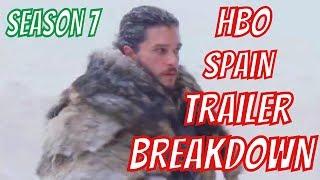 Game of Thrones Season 7 TRAILER BREAKDOWN (HBO SPAIN)