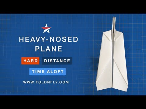 ✈ The Heavy-Nosed Paper Airplane for Added Distance - Fold 'N Fly