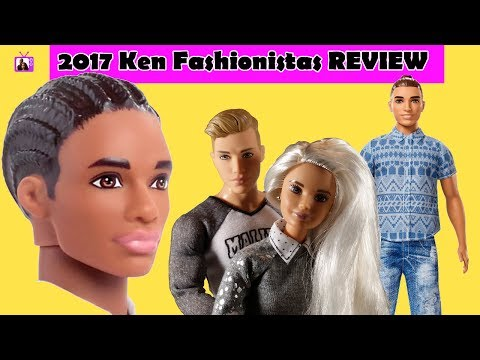 2017 New Barbie Ken® Fashionistas® REVIEW: Meet The Crew | Body Comparison Head Swap & Outfit Change