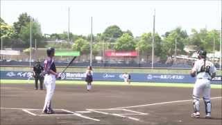 2014年6月1日、鎌ヶ谷スタジアムでの始球式。 映画「ハイキック・エンジ...