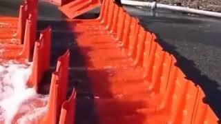 NOAQ, une barrera anti inundación que se monta en algunos minutos